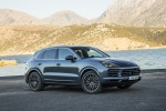 2019 Porsche Cayenne S AWD in Biscay Blue Metallic - Static Front Right Three-quarter View