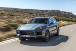 2019 Porsche Cayenne S AWD in Biscay Blue Metallic - Driving Front Left View