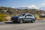 2019 Porsche Cayenne S AWD in Biscay Blue Metallic - Driving Front Left Three-quarter View