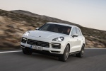 2019 Porsche Cayenne S AWD in White - Driving Front Left Three-quarter View