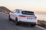 2019 Porsche Cayenne S AWD in White - Driving Rear Left View