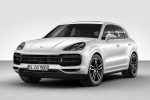 2019 Porsche Cayenne Turbo AWD in White - Static Front Left View