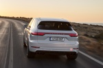 2019 Porsche Cayenne Turbo AWD in White - Driving Rear View