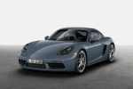 2018 Porsche 718 Cayman in Graphite Blue Metallic - Static Front Left Three-quarter View