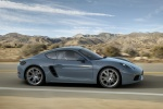 2018 Porsche 718 Cayman in Graphite Blue Metallic - Driving Right Side View