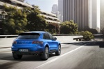 2016 Porsche Macan S in Dark Blue Metallic - Driving Rear Right View