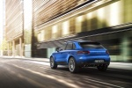 2016 Porsche Macan S in Dark Blue Metallic - Driving Rear Left View