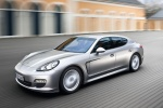 2011 Porsche Panamera V6 in GT Silver Metallic - Driving Front Left Three-quarter View