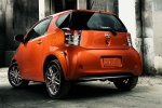 2014 Scion iQ in Hot Lava - Static Rear Left Three-quarter View