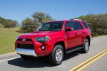 2019 Toyota 4Runner TRD Off Road in Barcelona Red Metallic - Driving Front Left Three-quarter View