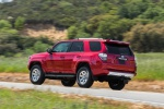 2019 Toyota 4Runner TRD Off Road in Barcelona Red Metallic - Driving Rear Left Three-quarter View