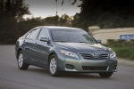 2010 Toyota Camry LE in Magnetic Gray Metallic - Driving Front Three-quarter View