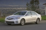 2011 Toyota Camry Hybrid in Classic Silver Metallic - Static Front Three-quarter View