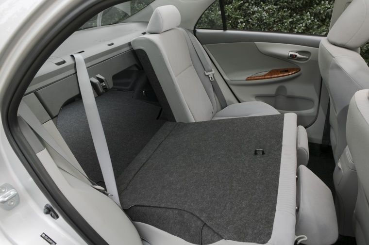 2010 Toyota Corolla XLE Rear Seats Folded in Ash