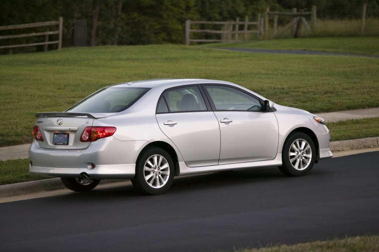 2010 Toyota Corolla S in Classic Silver Metallic from a rear right view