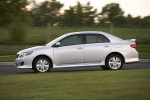 2010 Toyota Corolla XLE in Classic Silver Metallic - Driving Side View