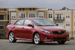 2010 Toyota Corolla XRS in Barcelona Red Metallic - Static Front Right Three-quarter View
