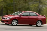 2010 Toyota Corolla XRS in Barcelona Red Metallic - Driving Left Side View