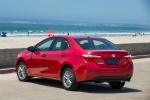 2015 Toyota Corolla LE in Barcelona Red Metallic - Static Rear Left View