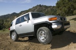 2010 Toyota FJ Cruiser front right three-quarter in Silver Fresco Metallic - Static Orientation View