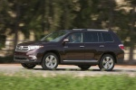 2013 Toyota Highlander Limited V6 in Sizzling Crimson Mica - Driving Front Left View