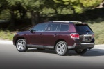 2013 Toyota Highlander Limited V6 in Sizzling Crimson Mica - Driving Rear Left Three-quarter View