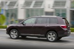 2013 Toyota Highlander Limited V6 in Sizzling Crimson Mica - Driving Left Side View