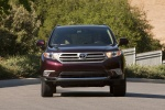 2013 Toyota Highlander Limited V6 in Sizzling Crimson Mica - Driving Frontal View