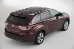 2015 Toyota Highlander Limited AWD in Ooh La La Rouge Mica - Static Rear Right Three-quarter Top View