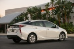 2017 Toyota Prius Two in Super White - Static Rear Right Three-quarter View