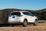 2017 Toyota RAV4 Limited AWD in Super White - Driving Rear Right Three-quarter View