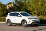 2017 Toyota RAV4 Hybrid XLE AWD in Super White - Driving Front Right Three-quarter View