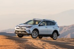 2017 Toyota RAV4 Limited AWD in Super White - Driving Front Left Three-quarter View