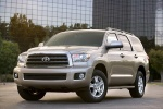 2016 Toyota Sequoia in Sandy Beach Metallic - Static Front Left Three-quarter View