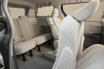 2011 Toyota Sienna LE Rear Seats in Light Gray - Light Gray View