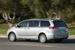 2011 Toyota Sienna XLE in Silver Sky Metallic - Driving Rear Left Three-quarter View