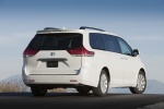 2011 Toyota Sienna Limited in Blizzard Pearl - Static Rear Right Three-quarter View