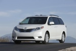 2011 Toyota Sienna Limited in Blizzard Pearl - Static Front Left Three-quarter View