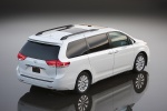2011 Toyota Sienna Limited in Blizzard Pearl - Static Rear Right Three-quarter Top View