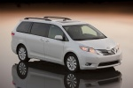 2011 Toyota Sienna Limited in Blizzard Pearl - Static Front Right Three-quarter Top View