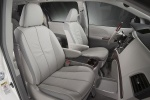 2011 Toyota Sienna Limited Front Seats in Light Gray
