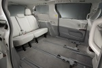 2011 Toyota Sienna Limited Rear Seats in Light Gray