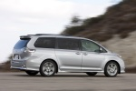 2011 Toyota Sienna SE in Silver Sky Metallic - Driving Rear Right Three-quarter View