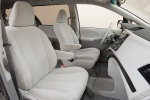2011 Toyota Sienna LE Front Seats in Light Gray