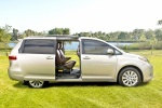 2017 Toyota Sienna Limited AWD with side-door open in Creme Brulee Mica - Static Side View