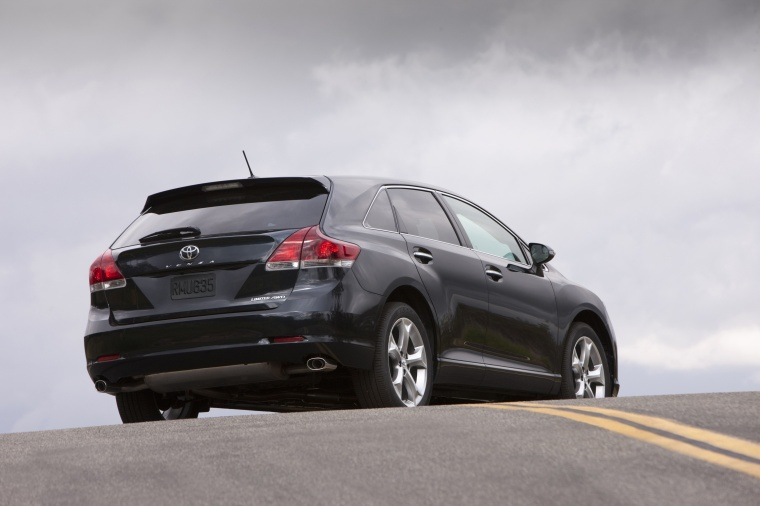 2014 Toyota Venza Limited 4WD in Cosmic Gray Mica from a rear right three-quarter view