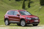 2012 Volkswagen Tiguan in Wild Cherry Metallic - Static Front Right Three-quarter View