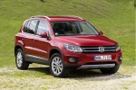 2012 Volkswagen Tiguan in Wild Cherry Metallic - Static Front Right View