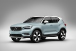 2020 Volvo XC40 T5 Momentum AWD in Light Blue - Static Front Left Three-quarter View