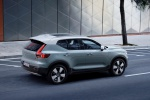 2020 Volvo XC40 T5 Momentum AWD in Light Blue - Driving Rear Right Three-quarter Top View